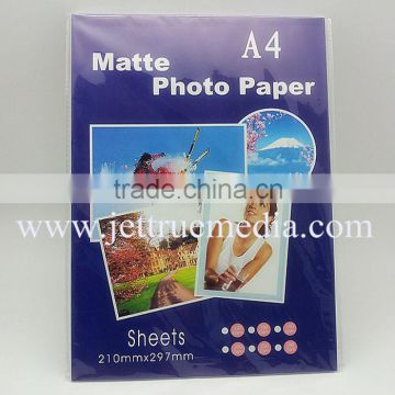 "125g matte inkjet photo paper for HP, Canon, Epson inkjet printer, A3, A4, A6, 10X15, 4R, 3R, 5R, 24"", 36"", 42"", jumbo roll"