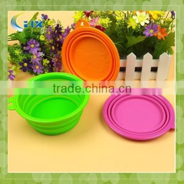 Collapsible silicone pet bowl dog bowl with FDA approval