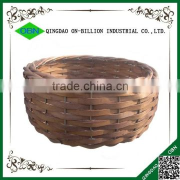 Natual material garden wicker plant pot for sale