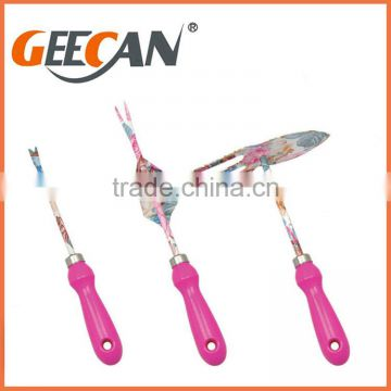 Garden Hand Tool set with Flower printing and Garden floral shovels Lady and kids Garden Tools
