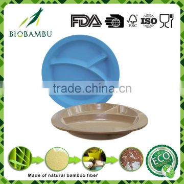 Colorful Best design No pollution rice husk material charger plate