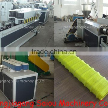 PE Flat pipe Corrugated Pipe Production Line