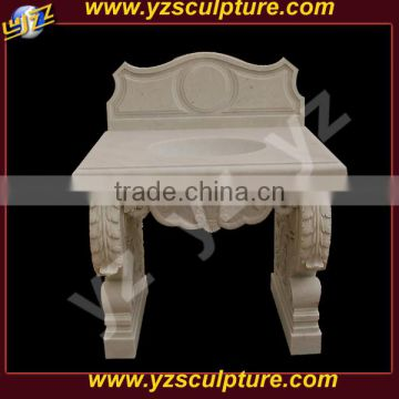 home use carved stone bathroom sink for sale
