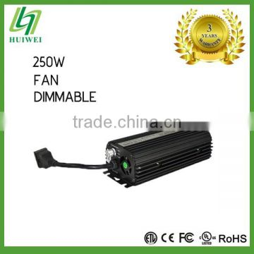 Hydroponic High Quality Electronic ballast 250W Dimmable With Cooling Fan
