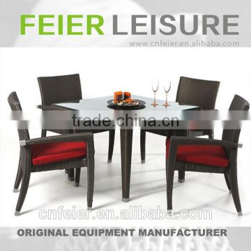 FEIER A6027CH Rattan Dining Desk and Chair