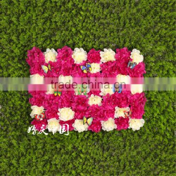 SJ0060011 2017 Hot sale artificial fabric flower texture wall for weeding