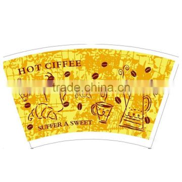 insulated wall paper cup fan paper cup board for cups beverge
