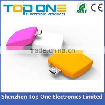 Factory direct sale cheap price one time use mini portable disposable power bank 1000mah
