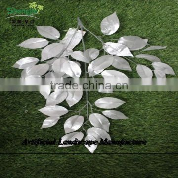 SJZJN 2600 decorative plastic leaves,made in shengjie high simulation ivy leaves wall hanging leaves