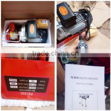 PA portable Wire Rope Sling cheap prices mini electrical hoist 600kg