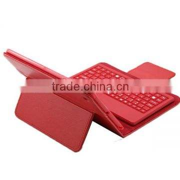 For Apple iPad Mini Stand Leather Case Cover With Removable Bluetooth Keyboard Bluetooth 3.0 keyboard technology, keyboard can