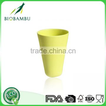 13.4oz food-grade eco-friendly bamboo fiber cold drink paper cup with cover manufacture