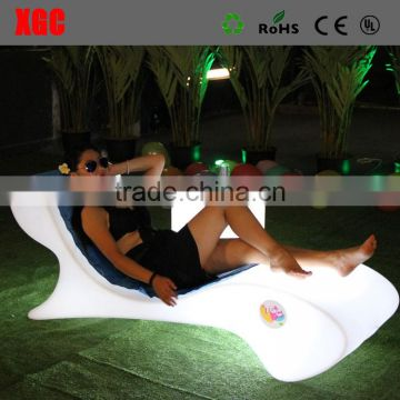 Erotic furniture de China fabrica de muebles pool plastic stoel en tafel led swimming pool chair for event&party