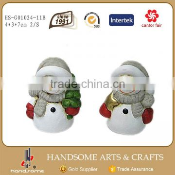 7cm Handmade Chinese Christmas Ornaments Snowman Small Gift Item