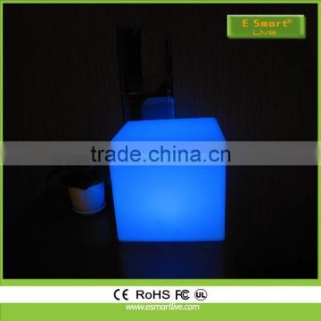 rechargeable colorful PE plastic led cube seat ,Multi Color Led Light Cube