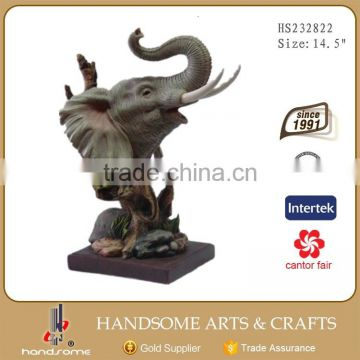 10 Inch Home Decoration Resin Gift Lively Animal Statue Elephant Sculpture