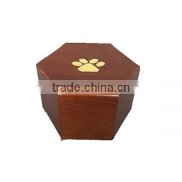 Cheap solid wooden dog pet urn