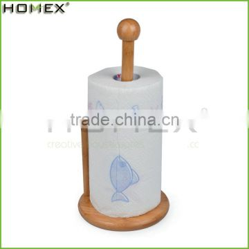 Home Free Bamboo Standing Toilet Paper Holder/Homex_BSCI