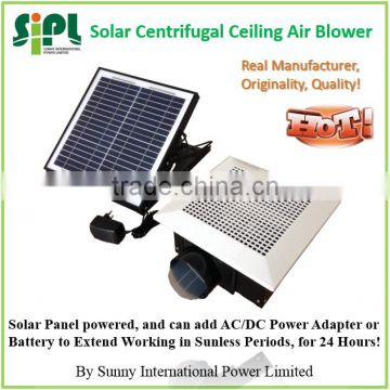 SUNNY Ceiling Mounted 30W Solar Panel Powered Plastic type Roof Ventilator Air Exhaust Fan