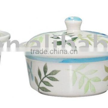 3 pcs hand painted casserole set