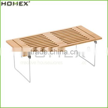 Bamboo Dish Drying Rack 2 Tier Kitchen Shelf Homex-BSCI Factory
