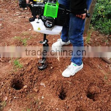 Gasoline 52CC Ground Earth Auger Drill with with 200mm metal blade