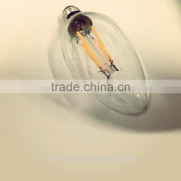 for crystal filament led bulb, warm white high lumens led filament candle bulb
