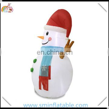 Giant inflatable snowman olaf, led inflatable snowman with scarf for outdoor christmas decor from china manufacturer