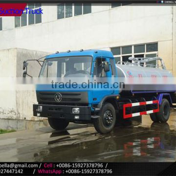 8000-10000L DONGFENG septic tank vacuum sewage suction truck, septic tank truck