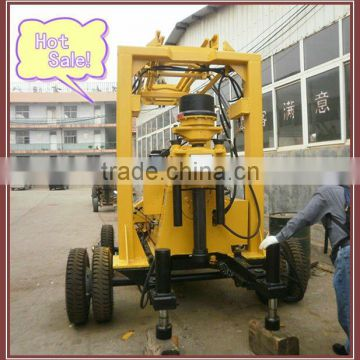 Hot sale!!! deep water well drilling rigs with wheel chassis device