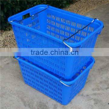 stackable plastic turnover rigid vegetable box with hole