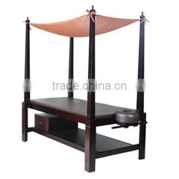 Bali amorous style wood massage table Beauty bed massage tables in wood portable salon furniture DS-Z09D08B (DAY SPA)