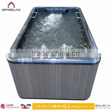 Factory Supply Outdoor 16 Person Hot Tubs Whirlpool Massage Fiberglass Swimming Pool