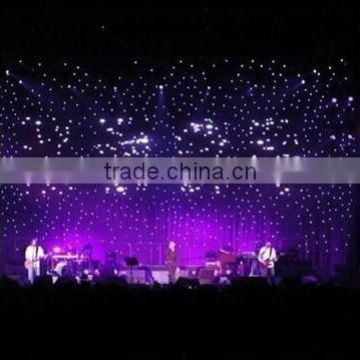 customized event led light curtain with fireproof fabric cloth