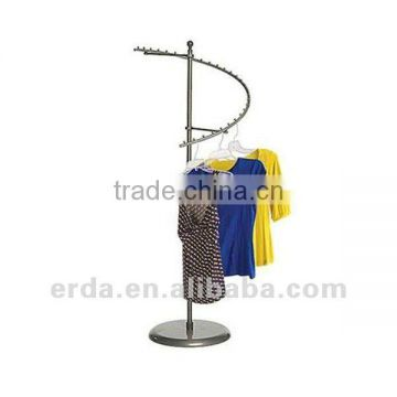 Raw Steel Spiral Clothes Rack Retail Store Display