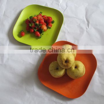 Eco Friendly Bamboo Fiber Dinnerware Bamboo Powder Fancy Party Plate
