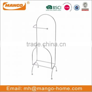 Chrome Plating Metal Wire Wall Mounted Bathroom Shelf