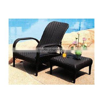 Synthetuc sunbed chair, plastic outdoor set