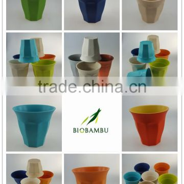 China manufacturer simple style eco friendly bamboo fiber picnic cup without ear