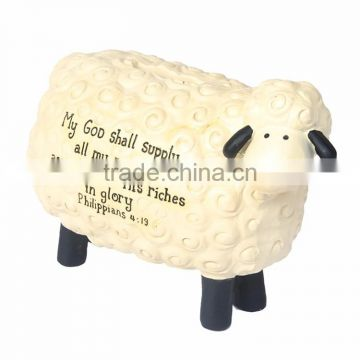 Custom blessing resin sheep saving bank christmas gifts for kids
