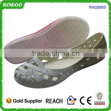 China Comfortable Flat Sexy PVC Jelly net shoes
