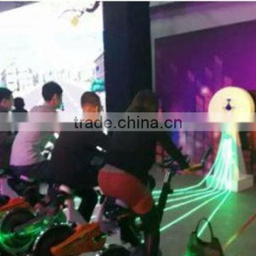 Spinning bike lighting control system entertainment and fitness 2 in 1