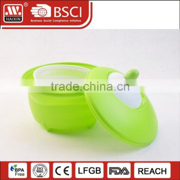 Haixng supermarket pp/ps plastic salad vegetable spinner wholesale