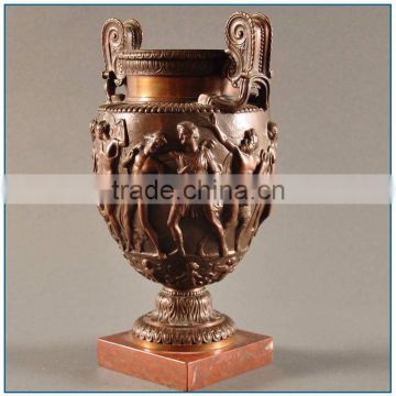 Antique Roman Krater Bronze Brass Vase for Decoration