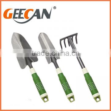 Professional cheap 5pcs metal garden tool set with soft plasti handle