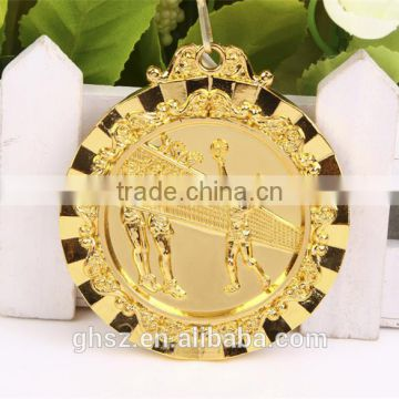 best selling zinc alloy volleyball gold medals