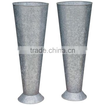 Tall Zinc pots and Gavanized Vase from Viet Nam