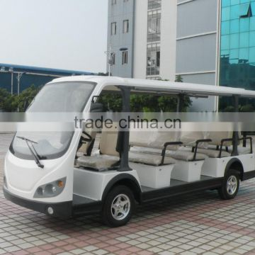 Latest 11 person battery operated airport electric shuttle bus tourist mini car