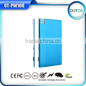 Hot selling credit card power bank 1000mah & 1500mah for mobile phone