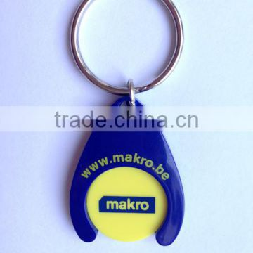 New Design Plastic Coin Holder Keychain